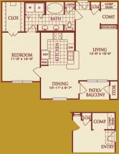 One Bedroom Apartment Rental in Katy, TX