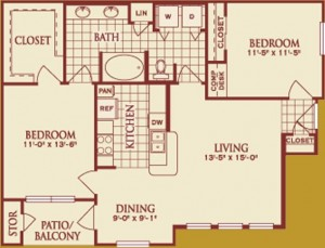 Two Bedroom Apartment Rental in Katy, TX