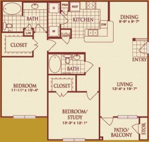 Two Bedroom Apartment Rental in Katy, TX
