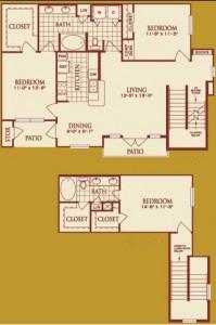 Three Bedroom Apartment Rental in Katy, TX