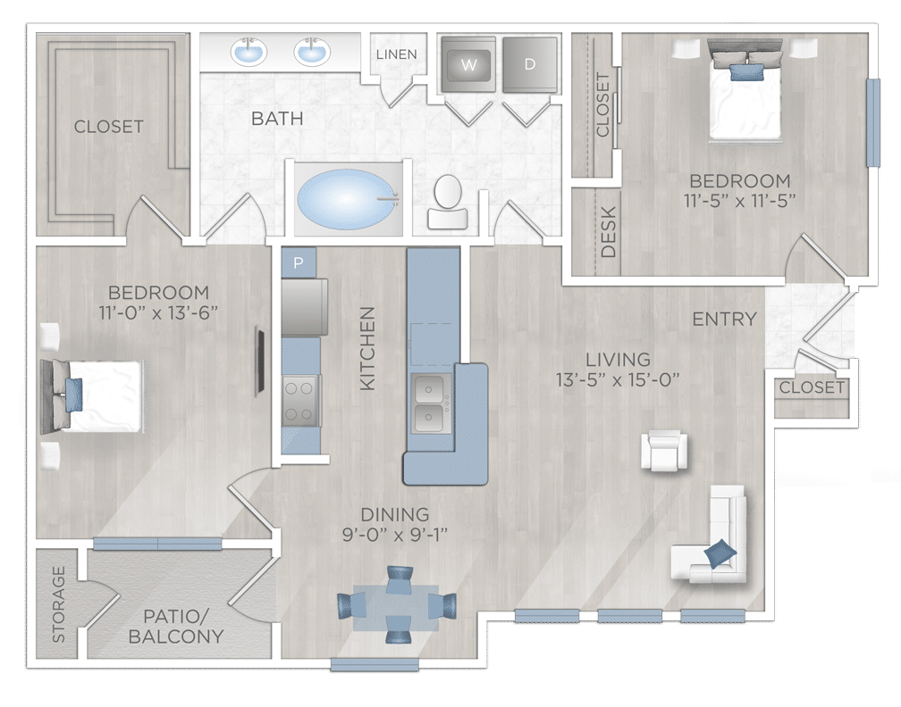 Two Bedroom Apartmen in Katy Texas