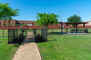 One Bedroom Apartments for Rent in Katy, TX - Dog Park Entrance