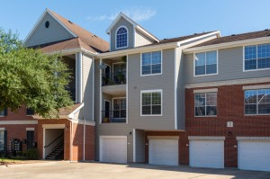 One Bedroom Apartments for Rent in Katy, TX - Exterior Building with Attached Garages