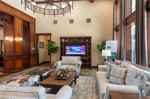 Two Bedroom Apartments for Rent in Katy, TX - Clubhouse Interior Seating Area with TV