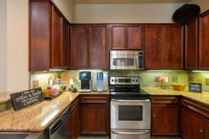 Two Bedroom Apartments for Rent in Katy, TX - Clubhouse Kitchen with Coffee Bar