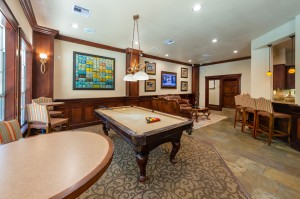 Two Bedroom Apartments for Rent in Katy, TX - Clubhouse Pool Table & Breakfast Bar