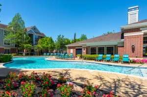 Two Bedroom Apartments for Rent in Katy, TX - Pool with Lounge Chairs