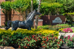 One Bedroom Apartments for Rent in Katy, TX - Community Entrance  Sign with Horse Statue