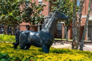 One Bedroom Apartments for Rent in Katy, TX - Community Exterior Horse Statue