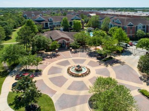 Three Bedroom Apartments for Rent in Katy, TX - Aerial View of Clubhouse & Community
