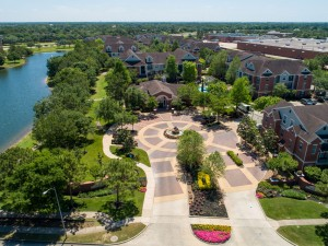 Three Bedroom Apartments for Rent in Katy, TX - Aerial View of Community & Lake
