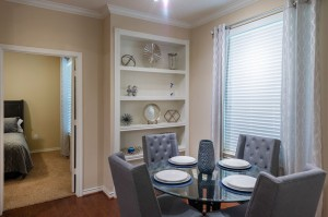 Three Bedroom Apartments for Rent in Katy, TX - Model Dining Room & Bedroom View