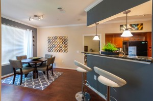 Three Bedroom Apartments for Rent in Katy, TX - Model Dining Room & Kitchen