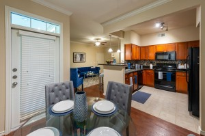 Three Bedroom Apartments for Rent in Katy, TX - Model Dining Room & Kitchen View