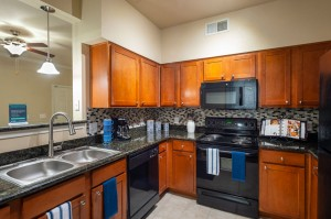 Three Bedroom Apartments for Rent in Katy, TX - Model Kitchen with Pass Through