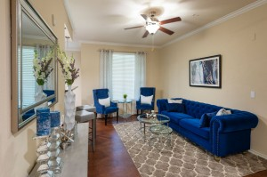 Three Bedroom Apartments for Rent in Katy, TX - Model Living Room