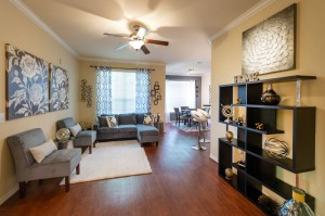 Three Bedroom Apartments for Rent in Katy, TX - Model Living Room & Dining Room