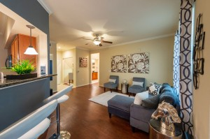 Three Bedroom Apartments for Rent in Katy, TX - Model Living Room (3)